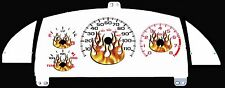 Cavalier Z24 White Face w/FLAMES Gauge Cluster 95 96 97 99 >>non indiglo<<