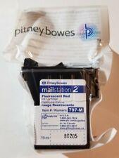 Pitney Bowes 797-M Mailstation 2 Fluorescent Red Ink Cartridge New Sealed OEM
