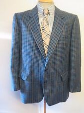 "Genuine Burberry men's blue houndstooth tweed blazer Jacket 42""  Euro 52 R"