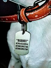 Pet Dog Cat ID Collar Tags - personalised with text, your photo or artwork.