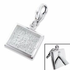 Silvadore PHOTO FRAME Picture 925 Sterling Silver Clip On Charm Bracelet Box 121