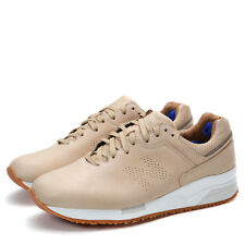 NIB New Balance Tokyo Design Studio Leather Low-Top Sneakers Tan Size 7,5M