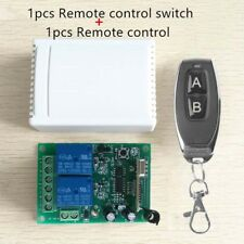 Garage Door 2CH 433MHz Relay Wireless Remote Control Switch Transmitter+Receiver