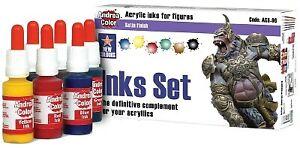 Inks Set - Acrylic inks for figures Satin finish