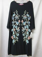 Shelby & Palmer Deep Navy Floral Long Sleeve Sheath Dress Size XL NEW WITH TAGS