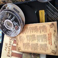 Age Of Empires III PC 3 CD-ROMs Microsoft Ensemble Studios Game Complete CD Key