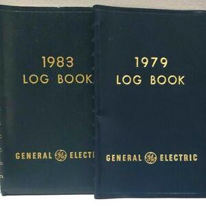 2 Vintage GE General Electric 1979 & 1983 Calendar Log Books Unused Calendar Lot
