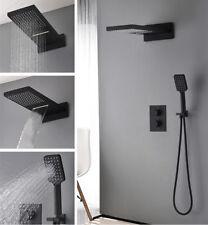 Thermostat Matte Black Shower Faucet Set Bath Shower Mixer Head Valve For Bath