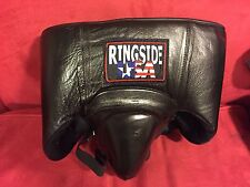 RINGSIDE USA No Foul Groin and Abdominal Protector *Black Leather Medium