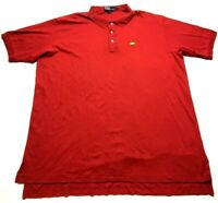 Polo Ralph Lauren Masters Collection Mens Red Short Sleeve Polo Shirt Size 2XL