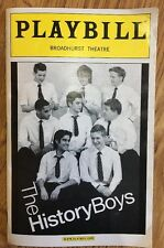 History Boys Broadhurst Theatre Playbill 2006 NYC James Corden Late Late Show VF