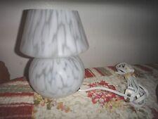 Murano type  Modern Mushroom White Glass table LAMP
