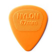 Jim Dunlop Nylon Midi Std .67mm Orange Plectrums 443R67 (Bag of 12 Picks)