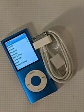 Apple iPod Nano 4th Gen Blue MB732ll 8 GB Working Tested w/ USB Cord