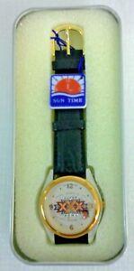Sun Time Souvenir Wrist Watch SUPER BOWL XXX 1996 Sun Devil Stadium Arizona