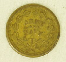 Brass Us Civil War Army Navy Token The Federal Union Must Shall Be Preserved