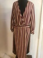 Zara Wrap Dress Tunic Size Small Stripe Sold Out