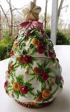 "Cookie Jar Christmas Tree Royal Albert ""Seasons of Color"" Old Country Roses Mint"