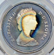 1986 Vancouver Canadian Silver Dollar PCGS PR67CAM Rainbow Tone-COLOR B