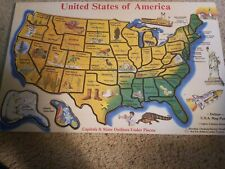 Melissa & Doug USA Map Floor Puzzle (Teaches Geography & Shapes, 14 inches wide