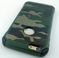 CAMOUFLAGE CAMO DESIGN REINFORCED RUGGED CASE COVER APPLE IPHONE 6 6S 4.7