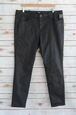 NWT Mossimo SUPER STRETCH Dark painted wash MID-RISE denim SKINNY jeans, sz 18R