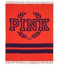 "VICTORIA'S SECRET PINK RED BOYFRIEND FESTIVE PICNIC BEACH LARGE BLANKET 50""x60"""