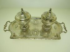 """UNUSUAL ENGLISH AND GERMAN STERLING SILVER INKWELL OR CELLARS 7 3/4"""" - 227 GRAMS"""