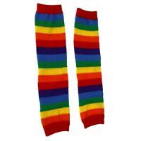 Pair Colorful Stripes Baby Toddler Kids Children Leg Warmers Leggings Socks C5S3