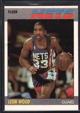 LEON WOOD 1987/88 FLEER BASKETBALL CARD #127 NETS