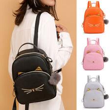 Fashion Women Mini Cat Backpack School Shoulder Bag Rucksack Leather Travel Bag