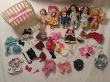 Mixed Lot Mattel Barbie's Friend KELLY, TOMMY & Other Friends Dolls & Clothes