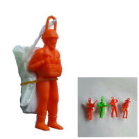 10pcs Kid Hand Throwing Parachute Toy Educational Parachute Figure Soldier Play