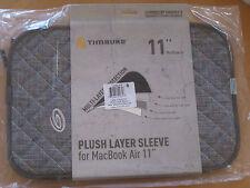 "Timbuk2 Plush Layer Sleeve -  11"" Macbook Air - Grey / Cold Blue - New!"