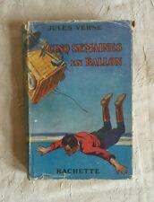 Cinq semaines en ballon - Jules Verne - Hachette 1929 illustré Dutriac, jaquette