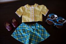 American Girl Doll Molly Roller Skating RETIRED Outfit With Skates EUC