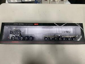 """WSI 01-1502 """"Grohmann"""" MB 8x4 Tractor & Boom Carrier Trailer 1:50 New In Box"""