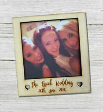 Personalised Polaroid Style Photo Frame Camera Wedding Favour Guest Books
