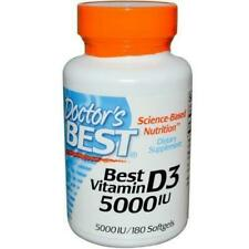 Doctors Best DRB-00218 D3 5000IU 180 Softgels Vitamin D3