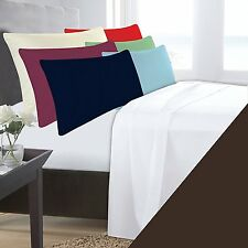 KING SIZE CHOCOLATE BASE VALANCE SHEET POLYCOTTON 180 THREAD COUNT PERCALE
