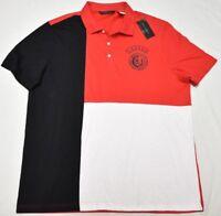 Sean John Polo Shirt Men's XL Legacy Pieced Graphic Polo Urban Streetwear P005