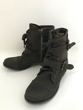 Dolce Vida Size 7.5 Women's Brown Ankle Boots with Buckles and Zipper Boots