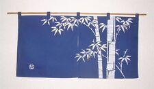 Kyoto Noren SB Japanese batik door curtain Take Bamboo navy blue 85cm x 45cm