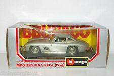 BBURAGO BURAGO 522 MERCEDES BENZ 300 SL 1954 SILVER GREY MINT BOXED RARE!!!