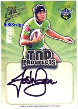 2009 SELECT TOP PROSPECTS SIGNATURE #TP3: JOSH DUGAN #235/300 CANBERRA RAIDERS