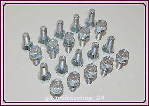20 Radschrauben Radbolzen M12 x 1,5 x 24 mm Kegel 60° für Alufelgen Stahlfelgen