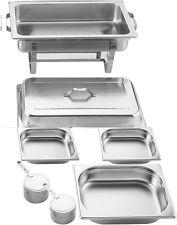 Chafing Dish Profi Büffet Speisenwärmer 8 tlg.  Edelstahl inkl. 6 x Brennpaste