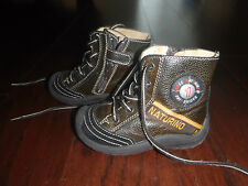 NATURINO BROWN BOOTS BABY BOYS  SZ 21 ADORABLE
