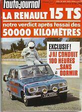 L'Auto-journal n°9 - 1972-  Renault 15 TS - Morris Marina - Fiat 132 - Caravane