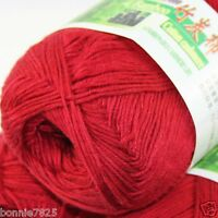 Sale New 1 Ball x50g Super Soft Bamboo Cotton Baby Hand Knitting Crochet Yarn 29